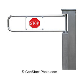 Entrance tourniquet, detailed turnstile, stainless steel,...