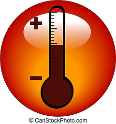 thermometer icon or button