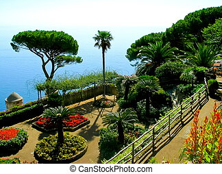 Amalfi coast - View over the Italian Amalfi coast from Villa...