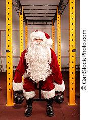santa, Claus, condição, treinamento
