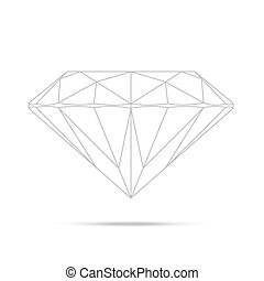 popular drawing line template diamond isolated realistic...