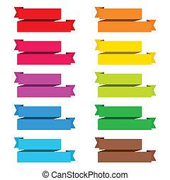 popular color pack ribbon paper vintage label banner...
