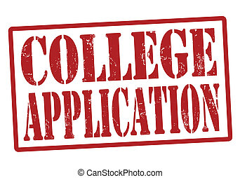 College Application stamp - College Application grunge...