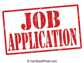 Job Application stamp - Job Application grunge rubber stamp...