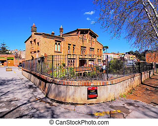 Colonia Guell - small town near Barcelona in Catalonia,...