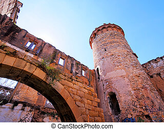Castle in Colonia Guell - Abandoned Castle Ruins in Colonia...