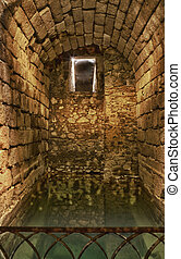 Cistern deposit - This picture is from Alcazaba of Merida, a...