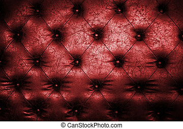 Luxury red leather close-up background with great detail for background, check my port for a seamless version