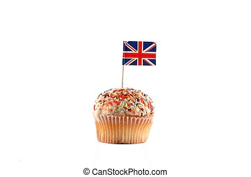 Cupcake with British Flag