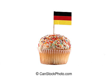 Cupcake with Germany Flag