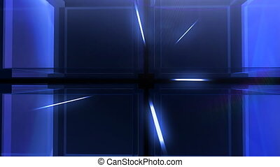 Blue Cube hd - Modern digital 3D cube background better for...