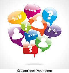Speech Bubbles vector illustration