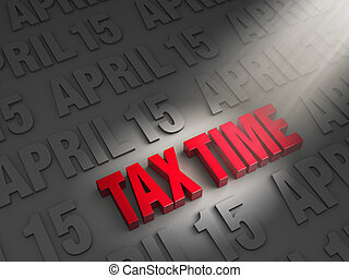 Shinning a Light On Tax Time - A spotlight illuminates...