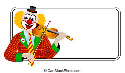 Clown the violinist – one of series of clowns musicians