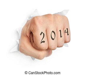 mão, 2014, tatuagem