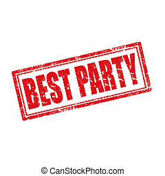 Best Party-stamp