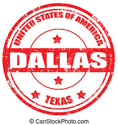 Dallas-stamp - Grunge rubber stamp with word Dallas,vector...