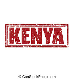 Kenya-stamp - Grunge rubber stamp with word Kenya,vector...