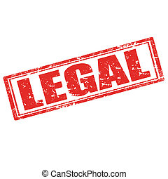 Legal-stamp - Grunge rubber stamp with word Legal,vector...