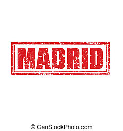 Madrid-stamp - Grunge rubber stamp with word Madrid,vector...