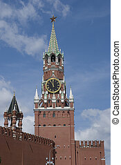 chiming clock 2 - chiming clock of the Moscow Kremlin,...