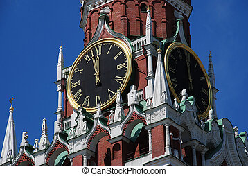 chiming clock of the Moscow Kremlin, Spasskaya tower