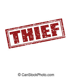 Thief-stamp - Grunge rubber stamp with word Thief,vector...