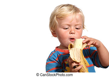 Cute blond two year old boy - Two year old blond boy posing...