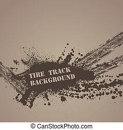 Tire track background - Brown background with tire tracks...