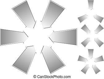 arrows - set of isolated arrows pointing to the center