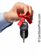Car keys Auto dealership and rental concept background