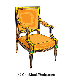 classical chair on white