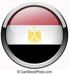 Egypt flag gel metal button