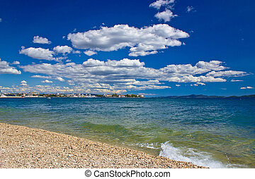 City of Zadar beach view, Dalmatia, Ctoatia