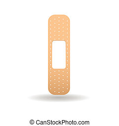 bandaid - abstract band aid with shadow effect on white...