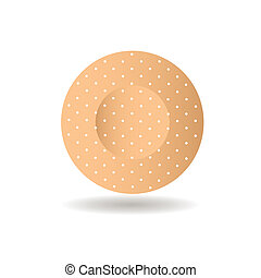bandaid - abstract circle band aid with shadow effect on...
