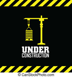 Under contruction - abstract under construction symbol on...