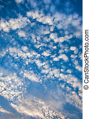 Heavenly Cloudscapes - Cloudscape with puffy and whispy...