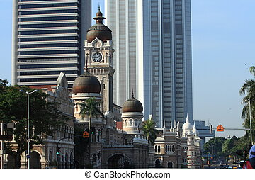 The Sultan Abdul Samad Building, the historical landmark of...