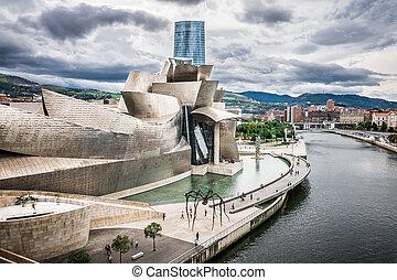 BILBAO, SPAIN - OCTOBER 1: Exterior of The Guggenheim Museum...