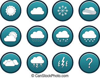 Weather icon set - Blue weather icon set including 11 icons...