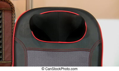 Massage chair with neck massaging demonstration