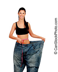 Objective achieved Woman at her ideal weight - Slim woman...