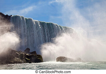 Niagara Falls - The view of Niagara Falls from the boat....