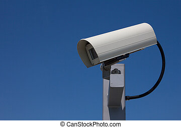 Surveillance Camera Facing Left Landscape - Modern outdoor...