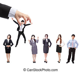 Human Resources concept: choosing the perfect candidate...