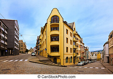 Cityscape of Alesund - Norway - Cityscape of Alesund Norway...