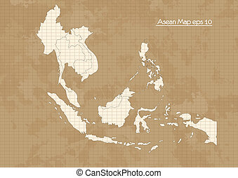Asian Map, vector