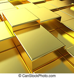 Gold urban background close-up
