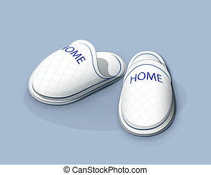 Slippers. vector illustration EPS10. Transparent objects and...